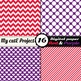 Purple and red - DIGITAL PAPER - Scrapbooking - A4 & 12x12