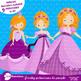 Purple princess clip art, Fairy princess, vector graphics, AMB-991