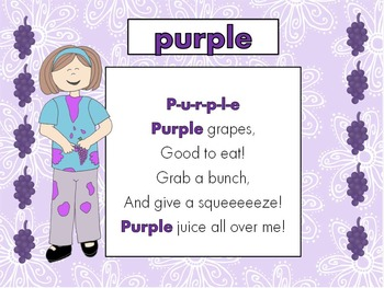 Purple- sight word song, worksheets