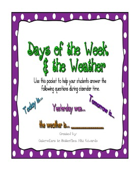 Purple_ Days of the Week & Weather- Calendar Accessories