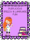 Purplicious Speech and Language Activities