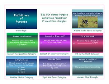 Purpose Infinitives PowerPoint Presentation