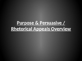 Purpose & Persuasive / Rhetorical Appeals Overview (Honors