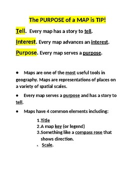 Purpose of a MAP is TIP!