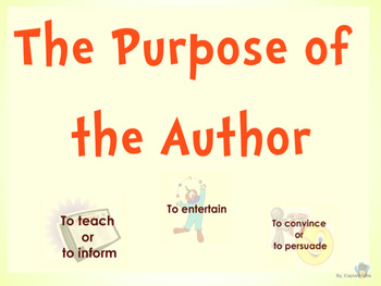 Purpose of the Author