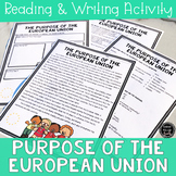 Purpose of the European Union Reading & Writing Activity (SS6E8, SS6E8d)