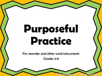 Purposeful Practice Anchor Chart