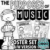 Purposes of Music Poster Set {BLACK/WHITE}