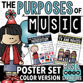 Purposes of Music Poster Set {COLOR}