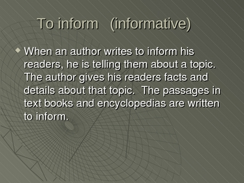 Purposes of Text Powerpoint