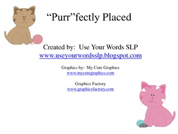 Purr-fectly Placed (Position Words)