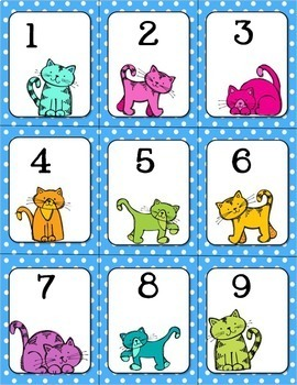 Purrfect Counting Cats- Common Core Kindergarten Math Centers