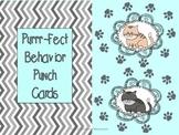 Behavior Punch Cards (Purrr-Fect Behavior)