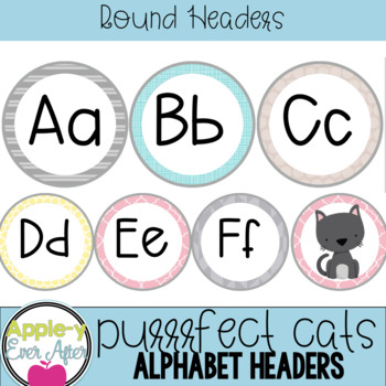 Purrrfect Cats Series - Cats & Alphabet Word Wall Set
