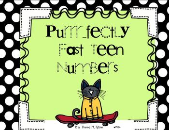 Purrr...fectly Fast TEEN Numbers 10-20 Great for Number Sense Freebie