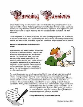 Pursuing Passions