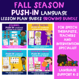 Push-In Speech Therapy Lessons for Fall Season