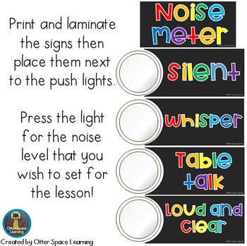 Push-Light Noise Meter - Rainbow