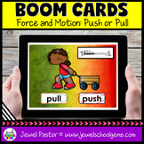 Push or Pull Science Boom Cards (Digital and Distance Learning)