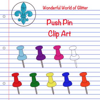 Push Pin Clip Art