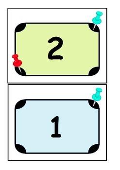 Push Pin Maths Work Basket Sorting Activity Cards