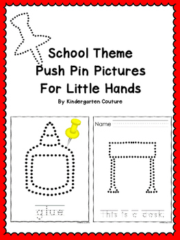 Push Pin Pictures - School Theme