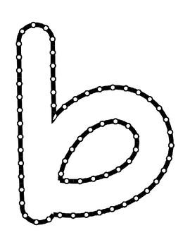Push Pin Poke Sheets for Letter B - Fine Motor for the Alphabet