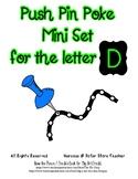 Push Pin Poke Sheets for Letter D - Fine Motor for the Alphabet