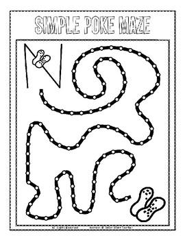 Push Pin Poke Sheets for Letter N - Fine Motor for the Alphabet