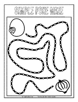 Push Pin Poke Sheets for Letter O - Fine Motor for the Alphabet