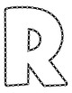 Push Pin Poke Sheets for Letter R - Fine Motor for the Alphabet