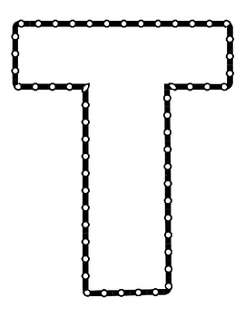 Push Pin Poke Sheets for Letter T - Fine Motor for the Alphabet