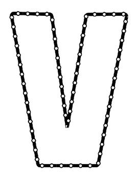Push Pin Poke Sheets for Letter V - Fine Motor for the Alphabet