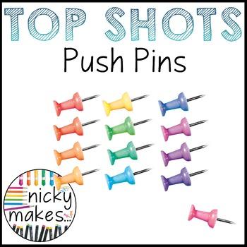 Push Pin Clips - TOP SHOTS