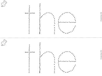 Push Pin Words for Kindergarten