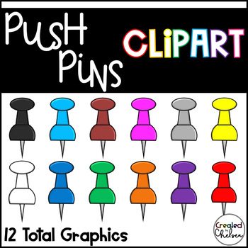 Push Pins {Clipart for Commercial Use}