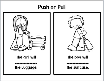 Push Pull: Coloring Worksheets  (NGSS K-PS2-1)