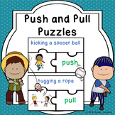 Push and Pull Sort Puzzles for Science Forces and Motion Push and Pull Activity