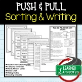 Push and Pull Factors Sorting and Writing Activity