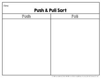 Push and Pull Picture Sort