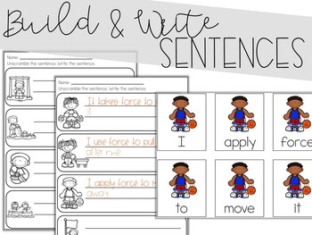 Push and Pull Scrambled Sentences