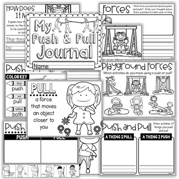 Push and Pull - Worksheets, Anchor Chart, Student Reader, and More!