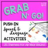 Grab N' Go Push-in Speech and Language Activities {25 THEMES!}