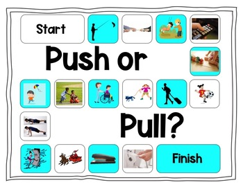 Push and Pull Board Game! (NGSS- K-PS2-1)