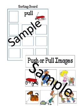Push or Pull Sorting Activity Board