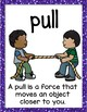 Push or Pull Vocabulary Posters - ESL Science ELL Resources