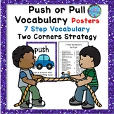 Push and Pull Vocabulary Posters - ESL Science ELL Resources