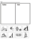 Push/Pull Sort - Motion and force