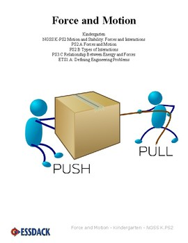 Pushes and Pulls - Kindergarten - Sample
