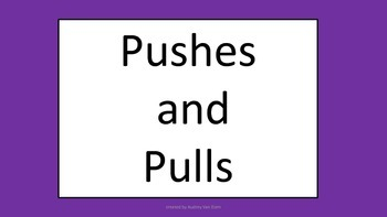 Pushes and Pulls Vocabulary Cards